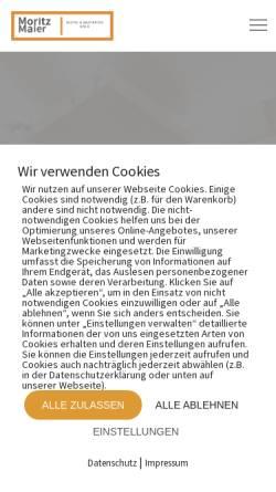 Vorschau der mobilen Webseite moritzmaier.net, Moritz Maier