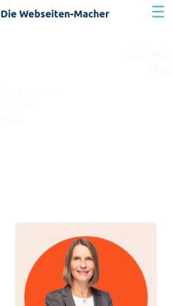 Vorschau der mobilen Webseite die-webseiten-macher.de, Die Webseiten-Macher