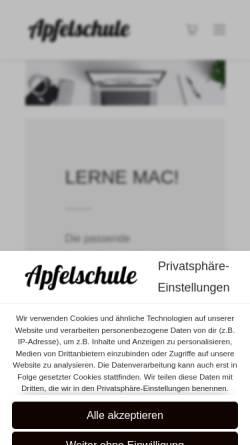 Vorschau der mobilen Webseite www.apfelschule.com, Apfelschule