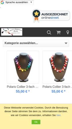 Vorschau der mobilen Webseite www.berlin-kunsthandwerk.de, Schmuck & Kunsthandwerk Berlin