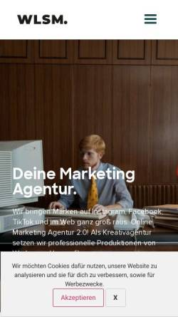 Vorschau der mobilen Webseite welikesocialmedia.de, We like Social Media