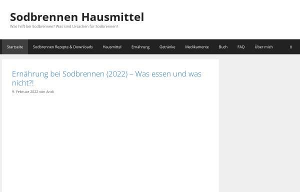 Vorschau von sodbrennenhausmittel-tipps.de, Sodbrennen Hausmittel