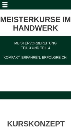 Vorschau der mobilen Webseite www.schererkurs.de, SCHERERKURS