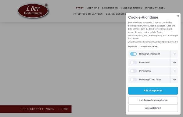 Vorschau von www.loeer-bestattungen.de, Löer Bestattungen