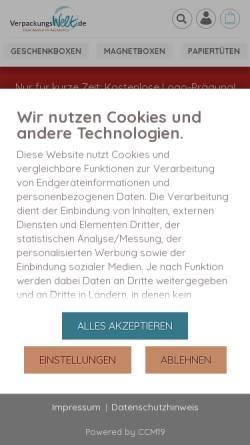 Vorschau der mobilen Webseite www.verpackungswelt.de, R&K Verpackungswelt GmbH