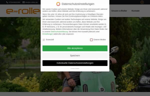 Vorschau von www.e-rollers.de, e-rollers elektromobile