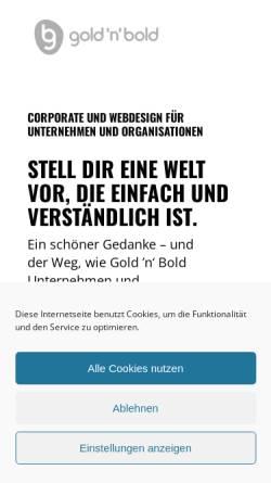 Vorschau der mobilen Webseite goldnbold.de, Gold 'n' Bold
