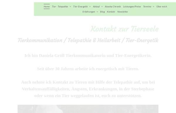 Vorschau von www.kontakt-zur-tierseele.de, Daniela Gröll