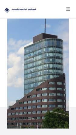 Vorschau der mobilen Webseite www.anwalt-walczak.de, Jürgen Walczak