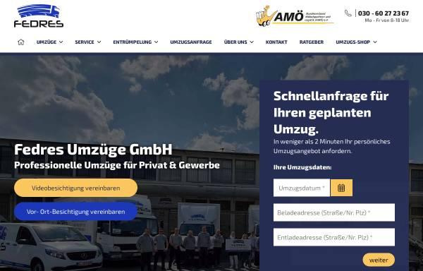 Vorschau von fedres-umzuege.de, Fedres Umzüge GmbH