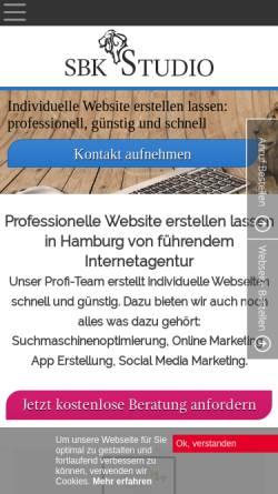 Vorschau der mobilen Webseite sbk-studio.de, SBK STUDIO