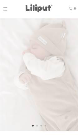Vorschau der mobilen Webseite liliput-shop.de, Liliput Babymode