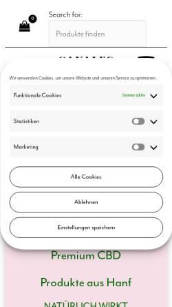 Vorschau der mobilen Webseite sanaleo-cbd.de, Sanaleo