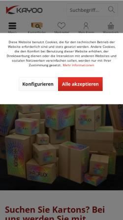 Vorschau der mobilen Webseite www.kayoo.eu, KK Verpackungen Kayhan Koc