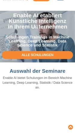 Vorschau der mobilen Webseite enable-ai.de, Enable AI