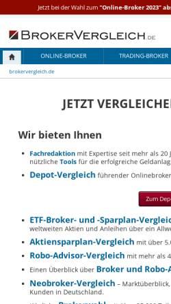 Vorschau der mobilen Webseite www.brokervergleich.de, Brokervergleich.de