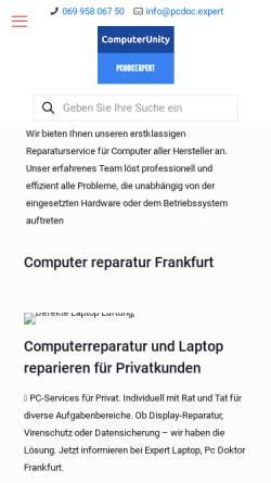 Vorschau der mobilen Webseite pcdoc.expert, Pcdocexpert