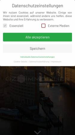 Vorschau der mobilen Webseite www.gzimmobilien.de, GZ Immobilien GmbH