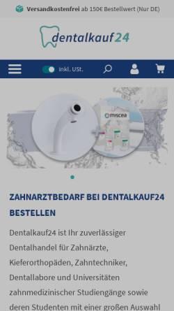 Vorschau der mobilen Webseite www.dentalkauf24.com, Dürrschmidt Dentalhandels GmbH
