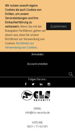 Vorschau der mobilen Webseite cls-security.de, CLS Security