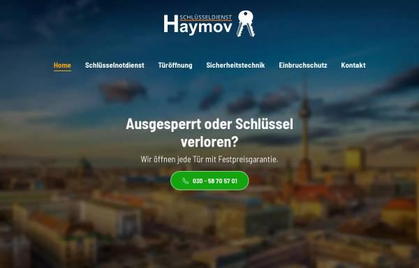 Vorschau von www.schluesseldienst-haymov.de, Schlüsseldienst Haymov