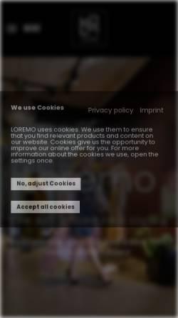 Vorschau der mobilen Webseite loremo.de, LOREMO