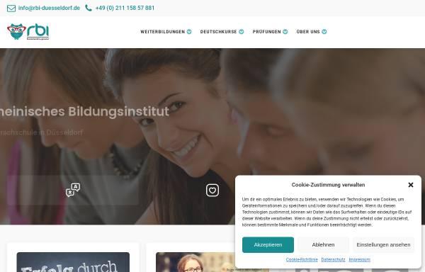 Vorschau von rbi-duesseldorf.de, rbi Rheinisches Bildungsinstitut GmbH