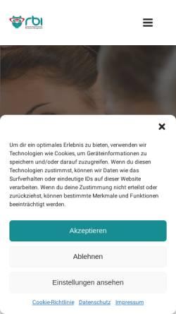 Vorschau der mobilen Webseite rbi-duesseldorf.de, rbi Rheinisches Bildungsinstitut GmbH