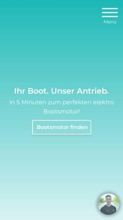 Vorschau der mobilen Webseite www.greenboatsolutions.de, greenboatsolutions