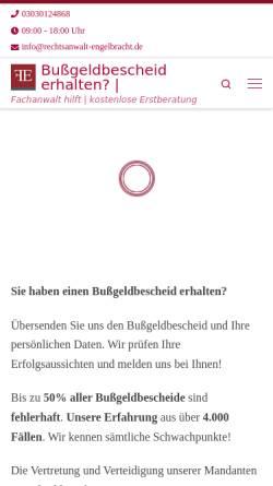 Vorschau der mobilen Webseite www.bussgeld.digital, Bußgeld Digital