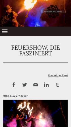 Vorschau der mobilen Webseite www.feuermaler.com, Feuermaler Art & Flames