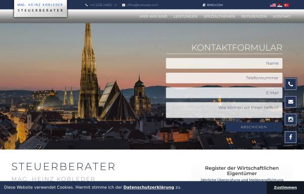 Vorschau von www.kobleder.com, Mag. Heinz Kobleder SteuerberatungsgmbH
