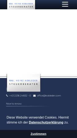 Vorschau der mobilen Webseite www.kobleder.com, Mag. Heinz Kobleder SteuerberatungsgmbH