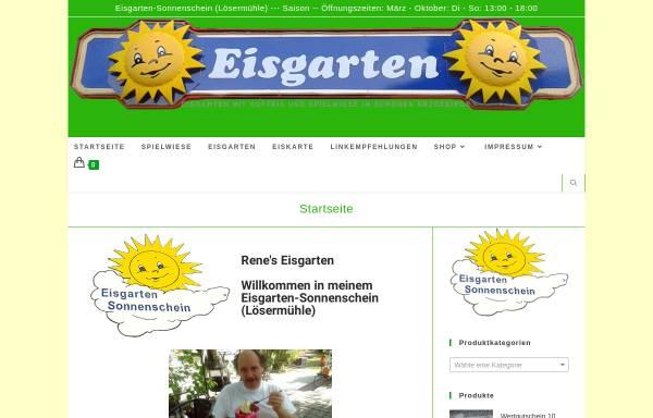 Vorschau von Loesermuehle.de, Eisgarten-Sonnenschein