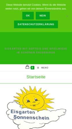 Vorschau der mobilen Webseite Loesermuehle.de, Eisgarten-Sonnenschein