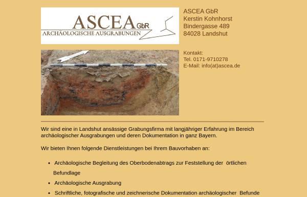 Vorschau von www.ascea.de, ASCEA GbR