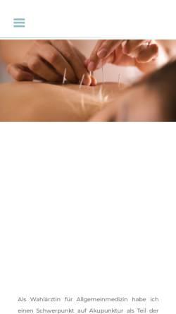 Vorschau der mobilen Webseite www.dr-wansch.at, Dr. Sabina Wansch