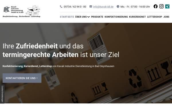 Vorschau von www.kavak-idl.de, Kavak Industrie Dienstleistung GmbH & Co. KG
