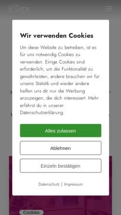 Vorschau der mobilen Webseite www.eseins.de, ESeins Privatklinik