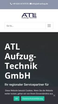Vorschau der mobilen Webseite atl-aufzug.de, ATL-Aufzug-Technik