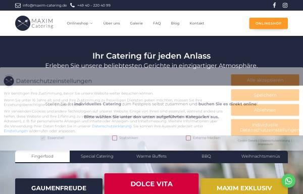 Vorschau von maxim-catering.de, Maxim Catering