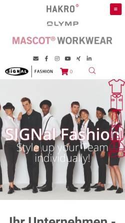 Vorschau der mobilen Webseite www.signal-fashion.de, SIGNal Design GmbH