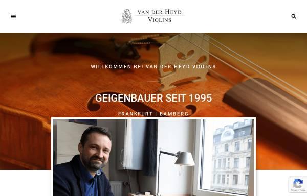 Vorschau von vanderheyd.com, van der Heyd Violins