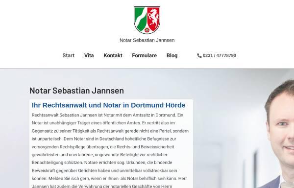 Vorschau von notar-jannsen-dortmund.de, Notar Sebastian Jannsen