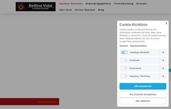 Vorschau von www.hypnose-vidal.de, Hypnose Hannover - Praxis Bettina Vidal