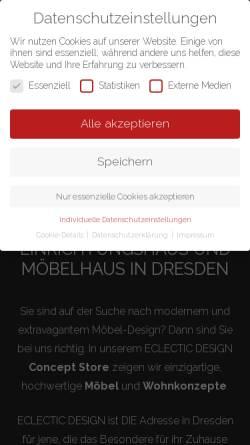 Vorschau der mobilen Webseite www.eclecticdesign.de, ECLECTIC DESIGN GmbH