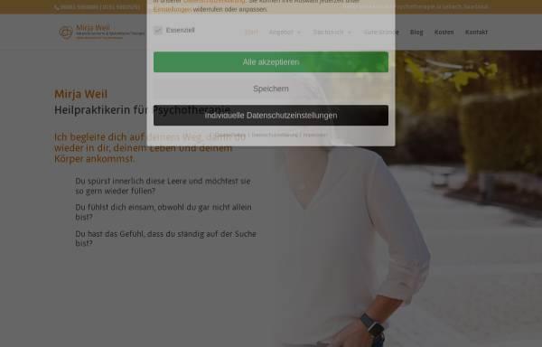 Vorschau von www.mirjaweil.de, Heilpraktikerin Mirja Weil