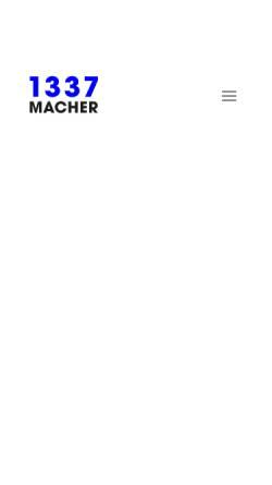 Vorschau der mobilen Webseite 1337macher.com, 1337macher Werbeagentur