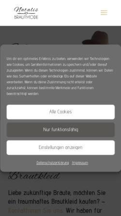 Vorschau der mobilen Webseite natalis-brautmode.de, Natalis Brautmode