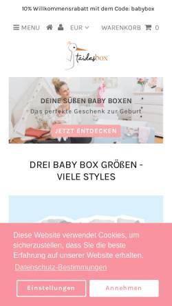Vorschau der mobilen Webseite taidasbox.de, Taidas Box GmbH